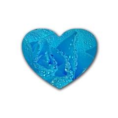 Blue Rose Drink Coasters 4 Pack (heart)  by Siebenhuehner
