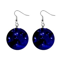 Blue Dreams Mini Button Earrings by Siebenhuehner
