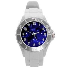 Blue Dreams Plastic Sport Watch (large) by Siebenhuehner
