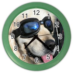Cool Dog  Wall Clock (color) by Siebenhuehner