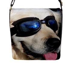 Cool Dog  Flap Closure Messenger Bag (large) by Siebenhuehner
