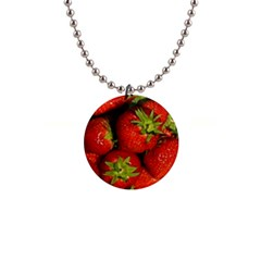 Strawberry  Button Necklace by Siebenhuehner