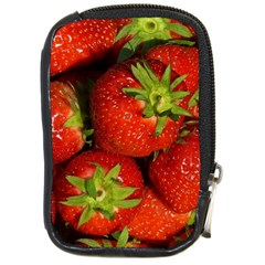 Strawberry  Compact Camera Leather Case by Siebenhuehner