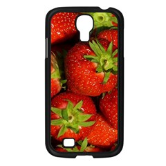 Strawberry  Samsung Galaxy S4 I9500/ I9505 Case (black) by Siebenhuehner