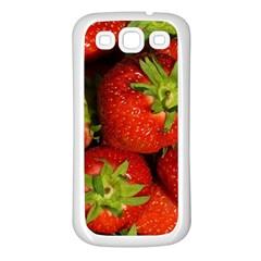 Strawberry  Samsung Galaxy S3 Back Case (white) by Siebenhuehner
