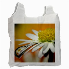 Daisy With Drops Recycle Bag (one Side)