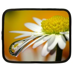 Daisy With Drops Netbook Case (xxl) by Siebenhuehner