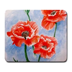 Poppies Large Mouse Pad (rectangle) by ArtByThree