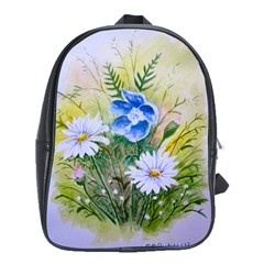 Meadow Flowers School Bag (large) by ArtByThree
