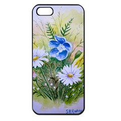 Meadow Flowers Apple Iphone 5 Seamless Case (black) by ArtByThree