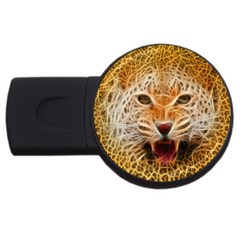 Electrified Fractal Jaguar Usb Flash Drive Round (2 Gb) by TheWowFactor