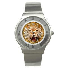 Electrified Fractal Jaguar Stainless Steel Watch by TheWowFactor