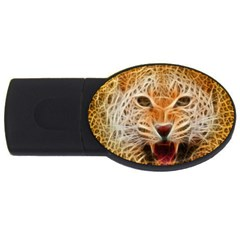 Electrified Fractal Jaguar Usb Flash Drive Oval (4 Gb) by TheWowFactor