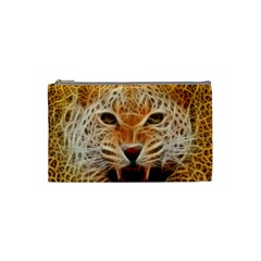 Electrified Fractal Jaguar Cosmetic Bag (small) by TheWowFactor