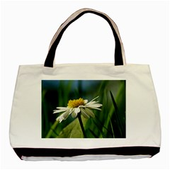 Daisy Twin Sided Black Tote Bag by Siebenhuehner