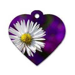 Daisy Dog Tag Heart (one Sided)  by Siebenhuehner