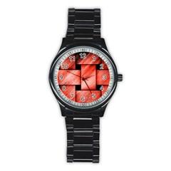 Modern Art Sport Metal Watch (black) by Siebenhuehner