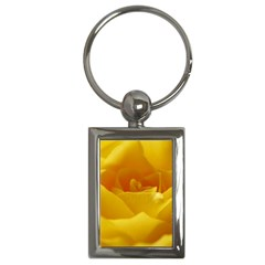 Yellow Rose Key Chain (rectangle) by Siebenhuehner