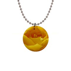 Yellow Rose Button Necklace by Siebenhuehner