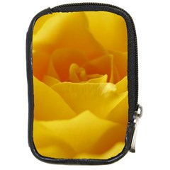 Yellow Rose Compact Camera Leather Case by Siebenhuehner