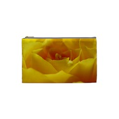 Yellow Rose Cosmetic Bag (small) by Siebenhuehner