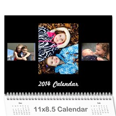 M&z By Nadine   Wall Calendar 11  X 8 5  (12 Months)   Eoyhlagfejcp   Www Artscow Com Cover