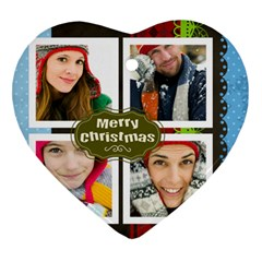 Merry Christmas By Merry Christmas   Heart Ornament (two Sides)   N8dwe7u0mkde   Www Artscow Com Front
