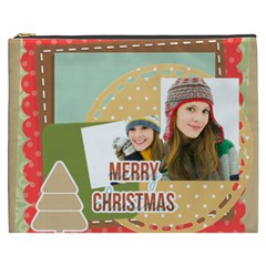 Merry Christmas By Merry Christmas   Cosmetic Bag (xxxl)   Wq78mhsmjgps   Www Artscow Com Front