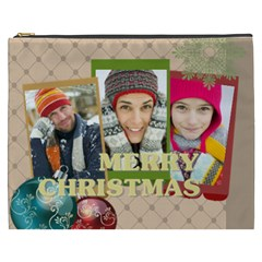 Merry Christmas By Merry Christmas   Cosmetic Bag (xxxl)   3qxf1nzgeebh   Www Artscow Com Front