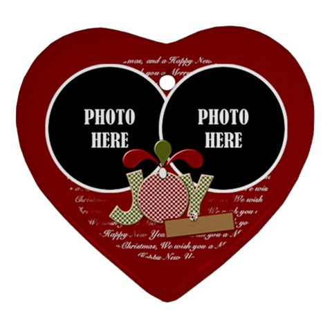 Joy Hearts Ornament 2 By Lisa Minor   Ornament (heart)   7fazf7v11mqu   Www Artscow Com Front