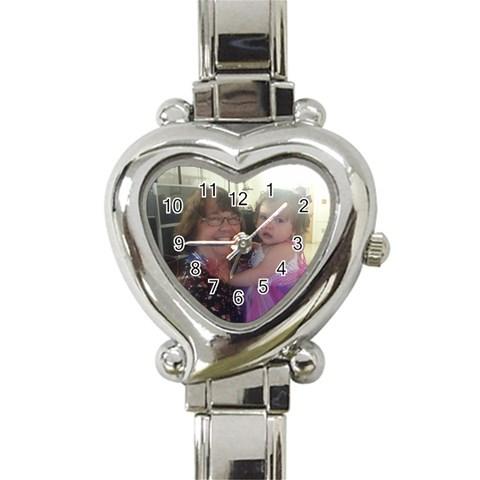 Watch For Mom  By Marisa   Heart Italian Charm Watch   Nf5l7vkrf3yb   Www Artscow Com Front