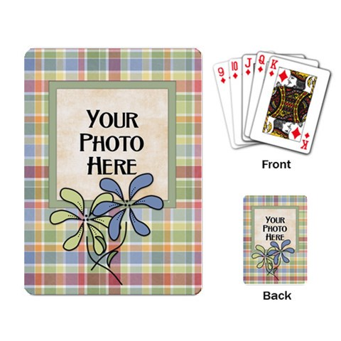 Flower Playing Cards By Lisa Minor   Playing Cards Single Design   St6dunnwus6t   Www Artscow Com Back