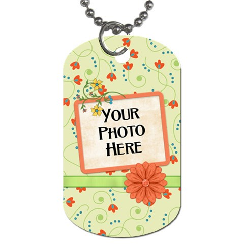 Fanciful Fun Dog Tag By Lisa Minor   Dog Tag (one Side)   Ny3ceg73hj7z   Www Artscow Com Front