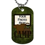 Camping Dog Tag - Dog Tag (One Side)