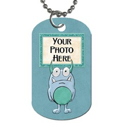 Monster Party Dog Tag By Lisa Minor   Dog Tag (two Sides)   L0ymnu1buuyd   Www Artscow Com Back