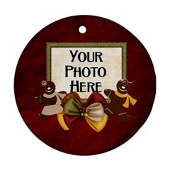 Gingerbread Ornament By Lisa Minor   Round Ornament (two Sides)   Lz832e5z646p   Www Artscow Com Front