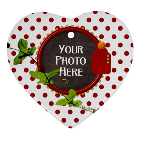 Ladybug Ornament  By Lisa Minor   Ornament (heart)   Dwjtktm8zj0c   Www Artscow Com Front