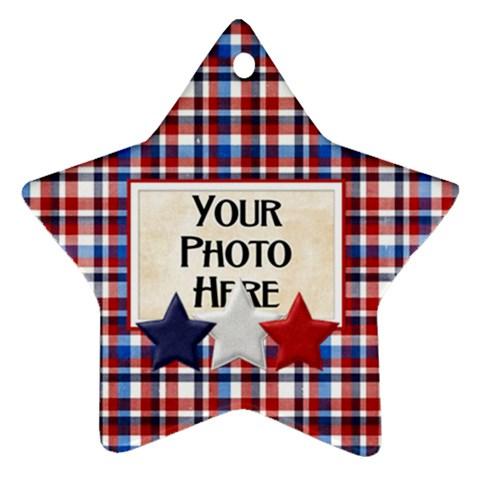 Patriotic Ornament By Lisa Minor   Ornament (star)   Cniepw15j25l   Www Artscow Com Front