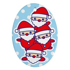 Santa s Oval Ornament by Contest1762364