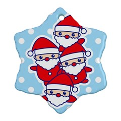 Santa s Snowflake Ornament (two Sides) by Contest1762364