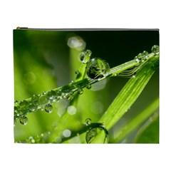 Waterdrops Cosmetic Bag (xl) by Siebenhuehner