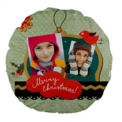 Merry Christmas By Merry Christmas   Large 18  Premium Round Cushion    Nl8tu2odihlx   Www Artscow Com Back