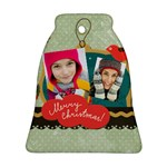 merry christmas - Bell Ornament (Two Sides)