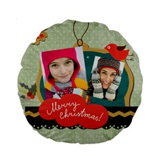 Merry Christmas By Merry Christmas   Standard 15  Premium Round Cushion    Hiiuu6869wss   Www Artscow Com Front