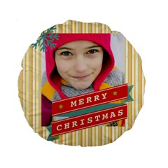 Merry Christmas By Merry Christmas   Standard 15  Premium Round Cushion    Y88fgu8w1n4z   Www Artscow Com Back