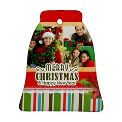 Merry Christmas By Merry Christmas   Bell Ornament (two Sides)   Ildyra1smffv   Www Artscow Com Back