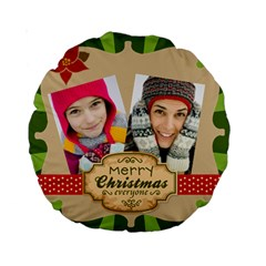 Merry Christmas By Merry Christmas   Standard 15  Premium Round Cushion    Xp4g4errf440   Www Artscow Com Front