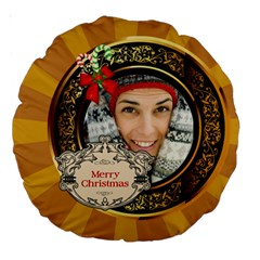 Merry Christmas By Merry Christmas   Large 18  Premium Round Cushion    Pree3gt11wjn   Www Artscow Com Front
