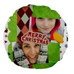 merry christmas - Large 18  Premium Round Cushion