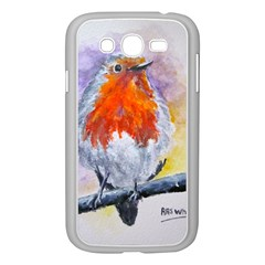 Robin Red Breast Samsung Galaxy Grand Duos I9082 Case (white) by ArtByThree